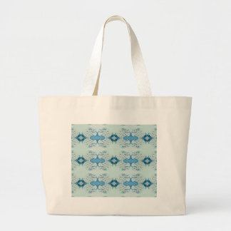 Pretty Shades of Blues In Modern Pattern Large Tote Bag