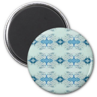 Pretty Shades of Blues In Modern Pattern Magnet