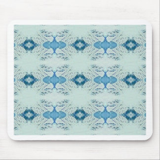 Pretty Shades of Blues In Modern Pattern Mouse Pad