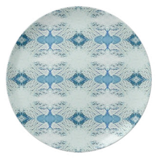 Pretty Shades of Blues In Modern Pattern Plate