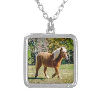 Pretty Shetland Pony Silver Plated Necklace