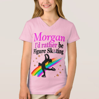 PRETTY SKATER GIRL PERSONALIZED T SHIRT