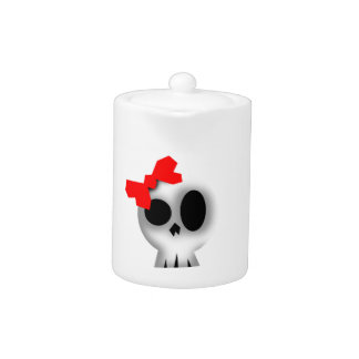 Pretty Skull with Red Bow