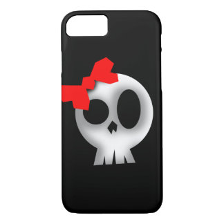 Pretty Skull with Red Bow iPhone 8/7 Case