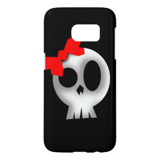 Pretty Skull with Red Bow Samsung Galaxy S7 Case