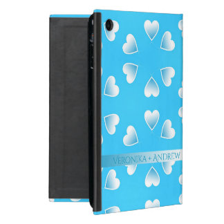 Pretty small blue hearts. Add your own text. Case For iPad Mini