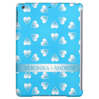 Pretty small blue hearts. Add your own text. Cover For iPad Air