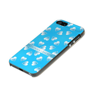 Pretty small blue hearts. Add your own text. Incipio Feather® Shine iPhone 5 Case