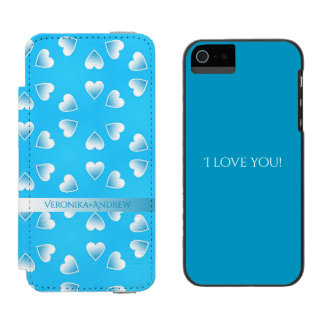 Pretty small blue hearts. Add your own text. Incipio Watson™ iPhone 5 Wallet Case