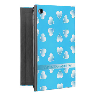Pretty small blue hearts. Add your own text. iPad Mini 4 Case