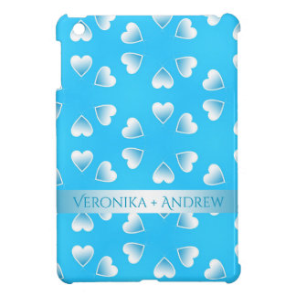 Pretty small blue hearts. Add your own text. iPad Mini Cover