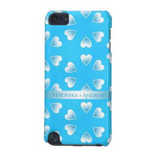Pretty small blue hearts. Add your own text. iPod Touch 5G Covers