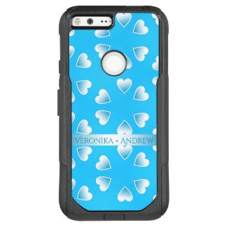 Pretty small blue hearts. Add your own text. OtterBox Commuter Google Pixel XL Case
