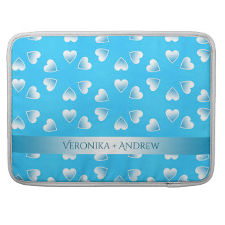Pretty small blue hearts. Add your own text. Sleeve For MacBooks