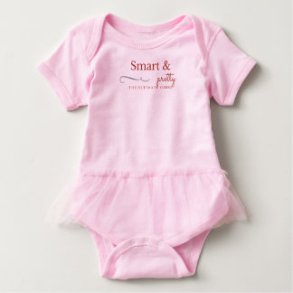 Pretty & Smart in Pink Baby Bodysuit