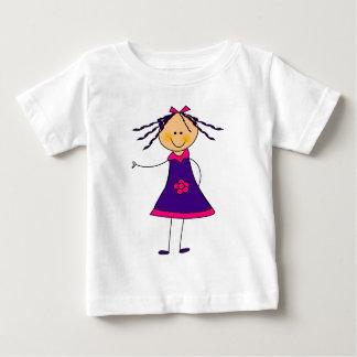 Pretty Smiling Cartoon Girl Tee Shirt