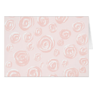 Pretty soft pink rose pattern. card