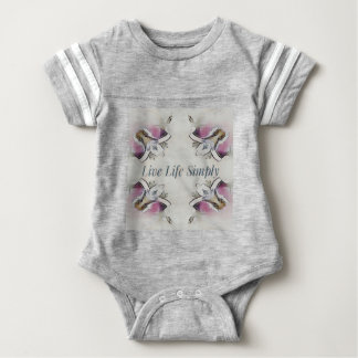 Pretty Soft Rose Colored Lifestyle Quote Baby Bodysuit