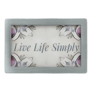 Pretty Soft Rose Colored Lifestyle Quote Belt Buckle