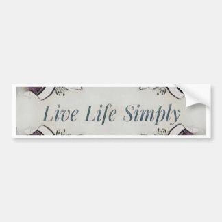Pretty Soft Rose Colored Lifestyle Quote Bumper Sticker