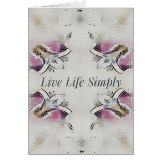 Pretty Soft Rose Colored Lifestyle Quote Card