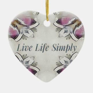 Pretty Soft Rose Colored Lifestyle Quote Ceramic Ornament