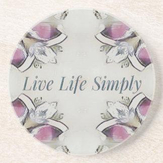 Pretty Soft Rose Colored Lifestyle Quote Coaster