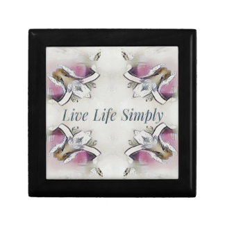 Pretty Soft Rose Colored Lifestyle Quote Gift Box