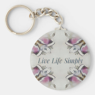 Pretty Soft Rose Colored Lifestyle Quote Keychain