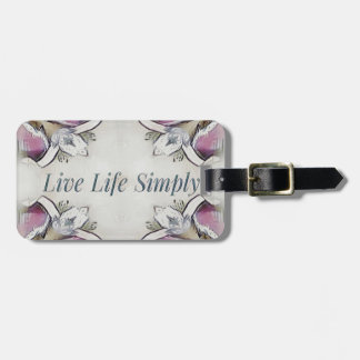 Pretty Soft Rose Colored Lifestyle Quote Luggage Tag