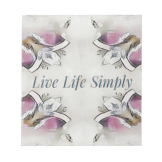 Pretty Soft Rose Colored Lifestyle Quote Notepad