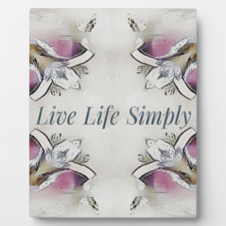 Pretty Soft Rose Colored Lifestyle Quote Plaque