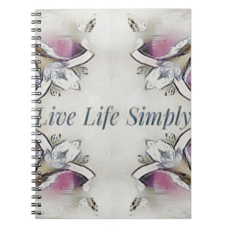 Pretty Soft Rose Colored Lifestyle Quote Spiral Notebook