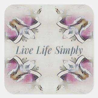 Pretty Soft Rose Colored Lifestyle Quote Square Sticker