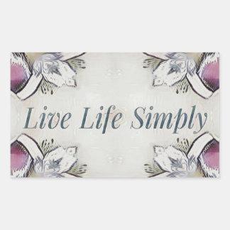 Pretty Soft Rose Colored Lifestyle Quote Sticker