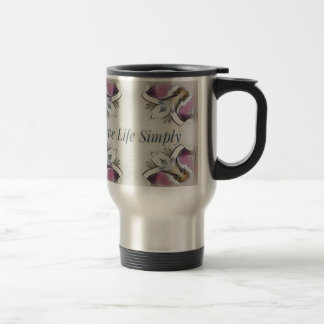 Pretty Soft Rose Colored Lifestyle Quote Travel Mug