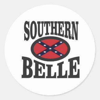 pretty southern belle round sticker