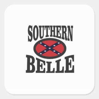 pretty southern belle square sticker