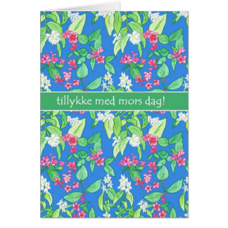 Pretty Spring Blossom Danish Mother's Day Card
