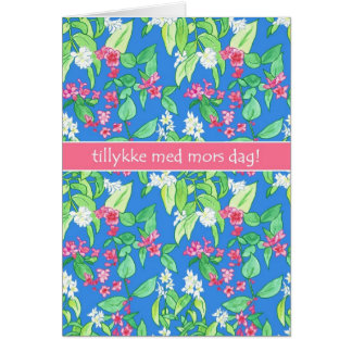 Pretty Spring Blossoms Danish Mother's Day Card