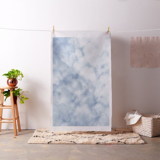Pretty spring cloudy pastel blue sky 0155 fabric