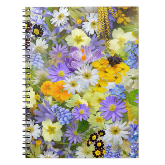Pretty Spring Flowers Collage Notebook