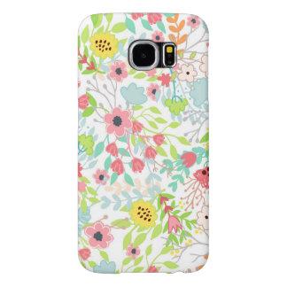 Pretty Spring Flowers Floral Pattern Samsung Galaxy S6 Case