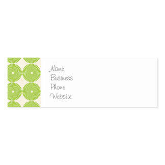 Pretty Spring Green Girly Circles Disks Pattern Pack Of Skinny Business Cards