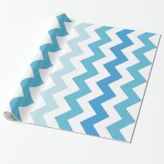 Pretty Spring Pastel Chevron Stripe Wrapping Paper