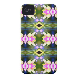 Pretty Spring Pink Green Pattern iPhone 4 Case