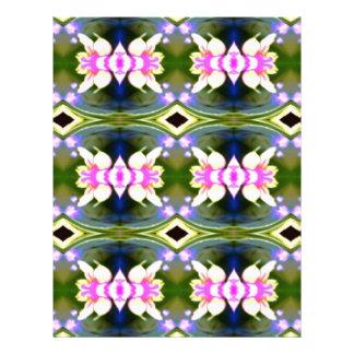 Pretty Spring Pink Green Pattern Letterhead