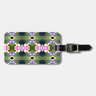 Pretty Spring Pink Green Pattern Luggage Tag