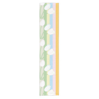 Pretty Spring Tulips Short Table Runner