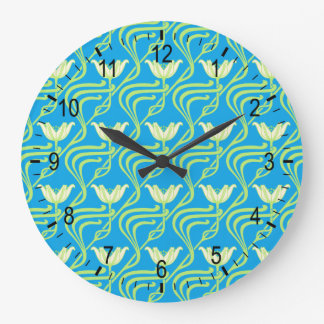 Pretty Spring Water Lilies Wall Clock
